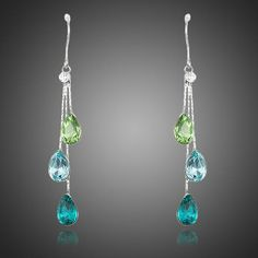 AZORA Elegant Charm Earrings for Women With Water Drop Stellux Austrian Crystal Dangle Wedding Earrings Cute Jewelry, Women Jewelry, Fashion Jewelry, Jewelry Shop, Wedding Earrings, Women's Earrings, Crystal Earrings, Silver Earrings, Beautiful Gifts