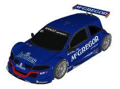 2009 Eurocup Mégane Trophy Mike Verschuur Team McGregor Paper Car Free Vehicle Paper Model Download