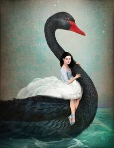 'Black+Swan'+by+Christian++Schloe+on+artflakes.com+as+poster+or+art+print+$22.17