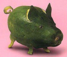 """Fruits et légumes originaux formes """"animaux"""""""