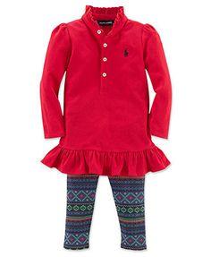 Ralph Lauren Baby Set, Baby Girls 2-Piece Tunic and Leggings