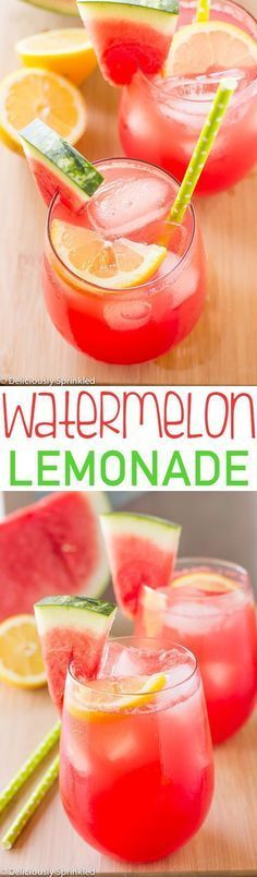 This Watermelon Lemonade is super easy to make and is the perfect summer drink! This Watermelon Lemonade is super easy to make and is the perfect summer drink! Summer Snacks, Summer Treats, Summer Recipes, Summer Parties, Tea Parties, Daiquiri, Smoothie Drinks, Fruit Smoothies, Refreshing Drinks
