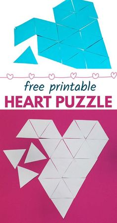 Teach kids geometry and all about triangles with this clever heart puzzle. Similar to traditional tangram puzzles, this free printable with keep kids busy and learning. Perfect for Valentine's… More