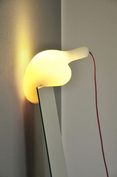 'Soft Light'. It is a soft and flexible light shade made of foamed polyurethane.