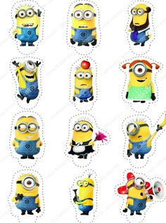 Cakeshop 12 x PRE-CUT Despicable Me Minions Stand Up Edible Cake Toppers ** Remarkable discounts available : Baking decorations Minions Birthday Theme, Minion Theme, Baby Boy 1st Birthday, Minion Party, Boy Birthday Parties, Birthday Party Decorations, Minions Despicable Me, My Minion, Minion Template