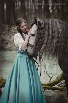 If it were real life, Belle and horse. (Why can I not remember the horse's… All The Pretty Horses, Beautiful Horses, Fantasy Photography, Horse Photography, Horse Love, Horse Girl, Models, Character Inspiration, Story Inspiration
