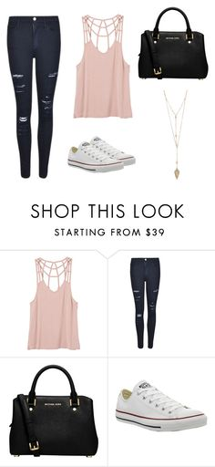 """""""Untitled #136"""" by crissgab12 on Polyvore featuring RVCA, Frame Denim, MICHAEL Michael Kors and Converse"""