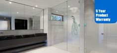 Anderson Glass & Design specialize in all types of shower door glass installation in Virginia, DC, including custom glass shower doors with affordable price Frameless Shower Enclosures, Frameless Shower Doors, Glass Shower Doors, Glass Door, Shower Screens, Glass Showers, Gray And White Bathroom, White Bathrooms, Marble Bathrooms