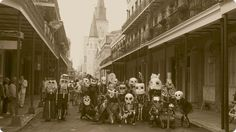 The Skeleton Krewe, New Orleans -- these guys go around town and wake people up Mardi Gras morning