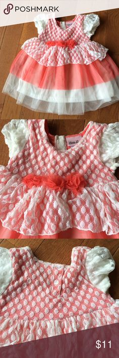 Cream and peach top Cream and peach top. Never worn. Would go great with leggings. So cute! Little Lass Shirts & Tops Blouses