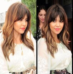 Bangs and layers and color
