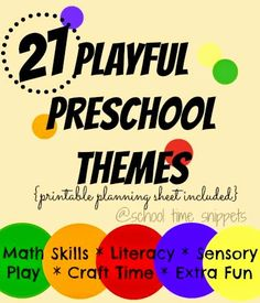 Homeschool Preschool Plans and Printable Preschool Planning Sheet with Weekly Theme Ideas to keep you on track.