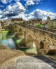 Puente La Reina. Navarra. Spain.