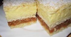 Apple Cream Recipe, Cream Recipes, Hungarian Desserts, Hungarian Recipes, Hungarian Food, No Bake Desserts, Just Desserts, Cake Recipes, Dessert Recipes