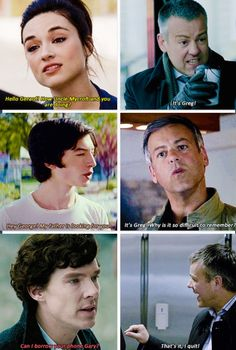 Parentlock. Even Sherlock's kid can't remember Lestrade's first name. Lmao <3