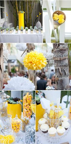 Hanging paper flowers and succulent party favors!