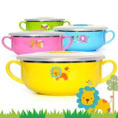 400ml Baby Feeding Bowl Cartoon Heat Preservation Melamine Dinnerware Stainless Steel Kids Plate Food Pratos Infantis  sc 1 st  Pinterest & 2017 new arrival Brand Kids Melamine Dinnerware 4 pcs/Set Character ...
