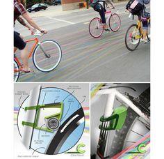 Colorindo seu rolê de Bike com Contrail.