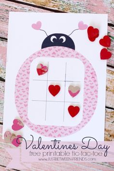 Just Between Friends: Valentines Day Tic-Tac-Toe | Free Printable #freeprintable #kids