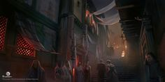 View an image titled 'Alexandria Brothel Street Art' in our Assassin's Creed Origins art gallery featuring official character designs, concept art, and promo pictures. Assassins Creed Empire, Assassins Creed Origins, Fantasy House, Fantasy Art, Throne Of Glass, Aesthetic Images, Fantasy Inspiration, Ancient Civilizations, Best Artist