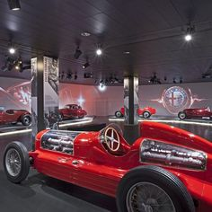 The official Alfa Romeo museum in Italy, displays a permanent collection of exquisite Alfa Romeo cars and engines.