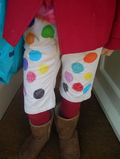 Why not customise your clothes with fabric paint in honor of Children in Need?!