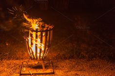 Open Fire by ChristianThür Photography on Creative Market Fire Basket, Open Fires, Holiday Photos, Creative, Cards, Photography, Decor, Decoration, Vacation Pictures