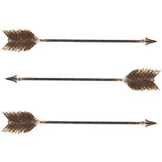 Dot & Bo Mounting Wall Arrows - Set of 4 ($41) ❤ liked on Polyvore featuring home, home decor, wall art, metal home decor, mounted wall art, arrow wall art, metal wall art and arrow home decor