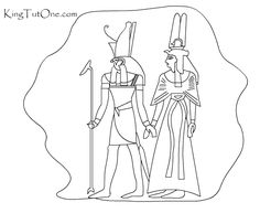 Ancient Egypt - Kids - Coloring Book - King Tut One.com