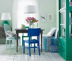JPM Design: Mix and Match Chairs Dining Room
