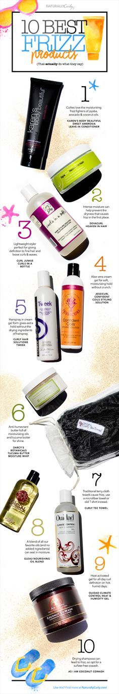 Finally! Banish frizz for good with these curl-friendly product suggestions. #curlyhair