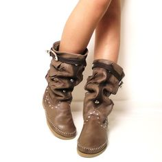 indian leather boots