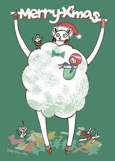 聖誕快樂 #card #illustration #daylilyart #插畫 #玳力力