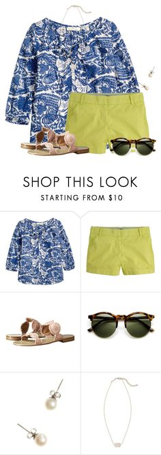 """""""Here comes the Sun"""" by flroasburn ❤ liked on Polyvore featuring H&M, J.Crew, Jack Rogers and Kendra Scott"""