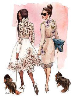 Melhores amigas, melhores amigos  #fashion #sketches