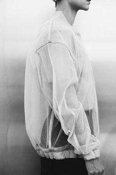 Transparency - sheer jacket; contemporary fashion design; see-though fashion details