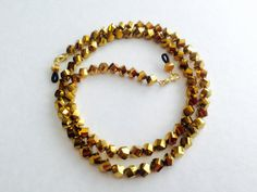 Dark Gold Crystal Eyeglass Chain