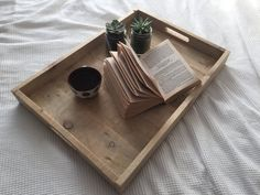 Reclaimed Pallet Wood Tray/ Large Serving Tray/ by MarteloAndMo