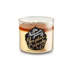 Pumpkin Cupcake 3-Wick Candle (€19) ❤ liked on Polyvore featuring home, home decor, candles & candleholders, pumpkin cupcake candle, 3 wick scented candles, cupcake home decor, three wick scented candles and scented candles