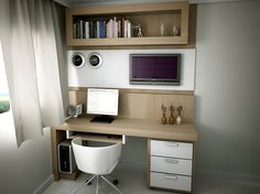Leading 30 Stunning Home Office Layout Mesa Home Office, Home Office Desks, Small Rooms, Small Spaces, Study Table Designs, Trendy Home, Cabinet Design, Interior Design Living Room, Home Goods