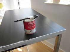 How to paint Ikea furniture. I'm going to try this with a changing table I was given. It's current color doesn't match my other furniture.