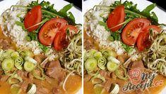 Krůtí perkelt s rýži a zeleninou   NejRecept.cz Cobb Salad, Menu, Chicken, Ethnic Recipes, Menu Board Design, Cubs