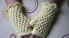 simple crocet fingerless gloves - YouTube