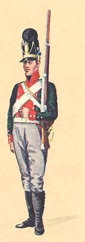 Bavaria: Private 5th Light Infantry Battlalion Delamotte: 1806