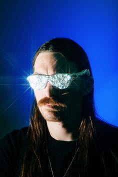 man in tinfoil glasses
