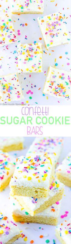 Confetti Sugar Cookie Bars