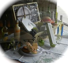 """Picnic season at Market Alley Wines.  We have the wine, the baskets, and the """"picnic stuff""""."""