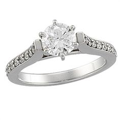 - 1/4 ct tw Cathedral Semi-Set Diamond Engagement Ring #MatthewEricksonJewelers