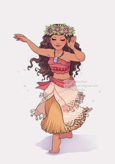 Princesses Fanarts Moana by HollyBell Cute Disney Drawings, Disney Princess Drawings, Disney Princess Art, Disney Princess Pictures, Drawings Of Princesses, Disney E Dreamworks, Disney Movies, Disney Characters, Disney Fan Art