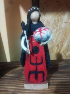 Felt Art, American Indians, Goddesses, Needle Felting, Mandala, Fairy, Christmas Ornaments, Holiday Decor, Baby Dolls